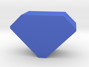 Game Piece, Gem in Blue Processed Versatile Plastic