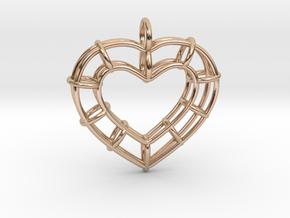 Truss Heart in 14k Rose Gold