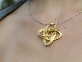 Sphere eversion (pendant) in Polished Gold Steel