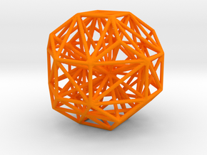 Polyhedron Graph in Orange Processed Versatile Plastic