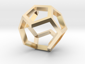 Dodecahedron Sculpture Ring B Gmtrx  in 14K Gold