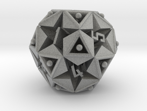 DICE Icosidodecahedron STAR in Metallic Plastic