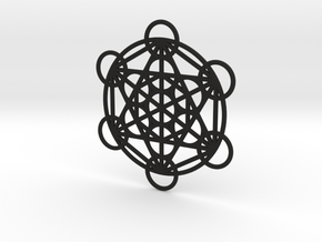 Metatron Grid Pendant in Black Natural Versatile Plastic: Small