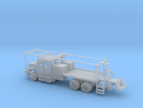 MOW Rail Truck 4 Door Cab Open 1-87 HO Scale in Smooth Fine Detail Plastic