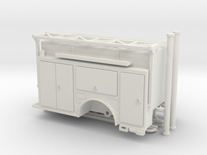 1-64 KME Camden engine body w/ ladder rack v2 in White Natural Versatile Plastic