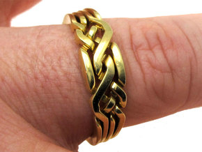 Holistic Ring interlocking metal in Polished Brass (Interlocking Parts)