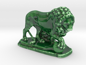 Ancient Medici Lion  in Gloss Oribe Green Porcelain