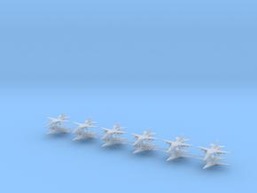 1/600 F-111E / EF-111 Aardvark / Raven (x12) in Smooth Fine Detail Plastic