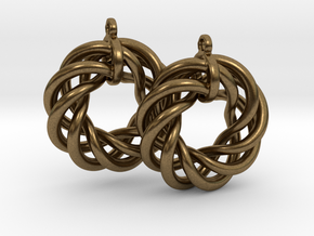 Torus Flower Earrings in Natural Bronze