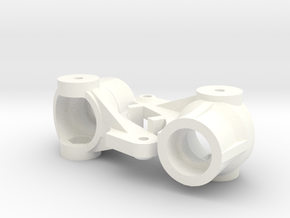 Lazer Steering Blocks (NIX mod2) in White Processed Versatile Plastic
