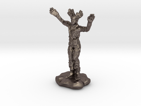 Wilden Warden Greenman Standing Pose in Polished Bronzed Silver Steel