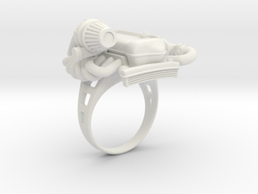Engine Ring in White Natural Versatile Plastic: 11 / 64
