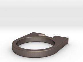 HONE - a ring for cutting thread in Polished Bronzed Silver Steel
