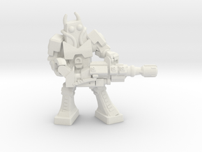Waruder Battas Heavy Gunner, 35mm Mini in White Strong & Flexible
