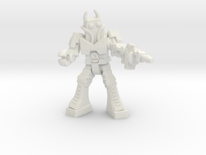 Waruder Battas Soldier, 35mm mini in White Natural Versatile Plastic