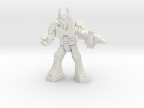Waruder Battas Soldier, 35mm mini in White Strong & Flexible