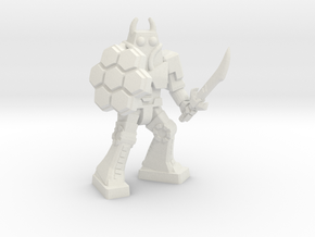 Waruder Battas Hive Guard, 35mm Mini in White Natural Versatile Plastic