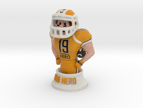 Mini football hero - version Orange in Full Color Sandstone