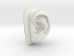 DIY Binaural Ear + Canal Anatomically Accurate - L in White Natural Versatile Plastic