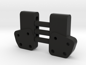 Leaf Chassis Servo Mount Bracket Pair in Black Natural Versatile Plastic