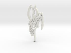 Bird of Prey Pendant in White Natural Versatile Plastic