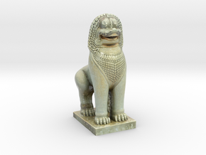 Guardian Lion  in Coated Full Color Sandstone
