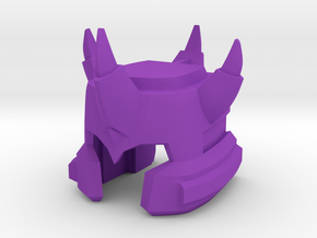 Galvatron TR Helm, IDW style  in Purple Processed Versatile Plastic