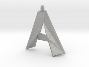 Distorted Letter A in Aluminum