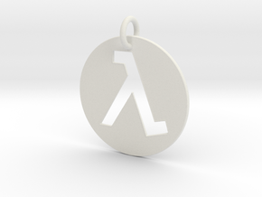 Half Life Pendant/Keychain in White Natural Versatile Plastic