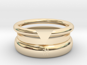 RxOUTINE Wellness Tracking Ring  in 14k Gold Plated Brass