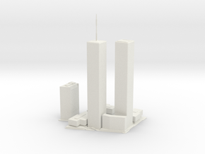 Original World Trade Center for 3D printing in White Natural Versatile Plastic: Large