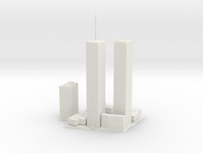 Original World Trade Center for 3D printing in White Natural Versatile Plastic: Large
