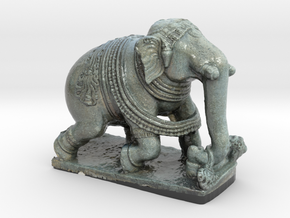 Indian Elephant in Glossy Full Color Sandstone
