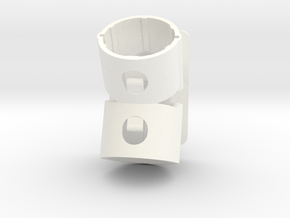 Holder For Dyson Tools V6 and earlier - Offset in White Processed Versatile Plastic