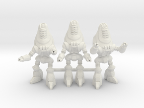 Protectron Patrol - 3 35mm Minis in White Natural Versatile Plastic