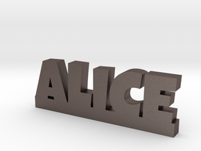 ALICE Lucky in Polished Bronzed Silver Steel
