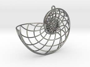 Nautilus Pendant in Polished Silver