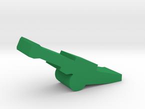 Game Piece, Towed Howitzer in Green Processed Versatile Plastic