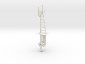 Mid-Bracket Signal - Left Main Doll HO NSWGR LQ in White Natural Versatile Plastic