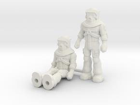 Matt Trakker 2-pack, 35mm Minis in White Natural Versatile Plastic