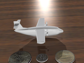 Flying Boat (around 1/300 scale) in White Natural Versatile Plastic