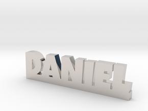 DANIEL Lucky in Rhodium Plated Brass