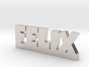 FELIX Lucky in Rhodium Plated Brass