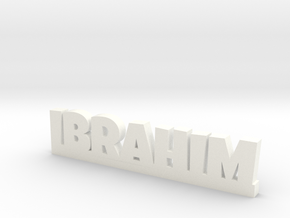 IBRAHIM Lucky in White Processed Versatile Plastic