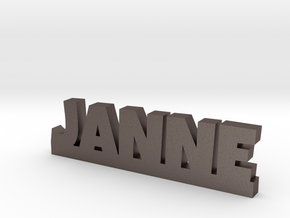 JANNE Lucky in Polished Bronzed Silver Steel