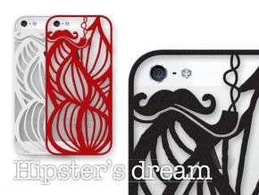 Hipster's Dream - case for iPhone 5/5s in Black Natural Versatile Plastic