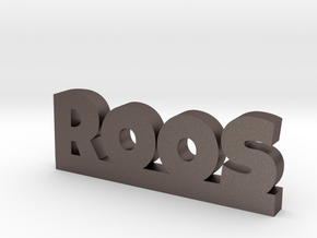 ROOS Lucky in Polished Bronzed Silver Steel