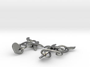 Kotomi Earrings in Polished Silver (Interlocking Parts)