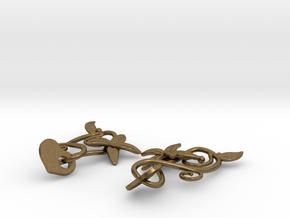 Kotomi Earrings in Natural Bronze (Interlocking Parts)