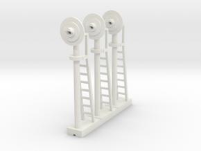 Signal Searchlight (x03) - HO 87:1 Scale in White Natural Versatile Plastic